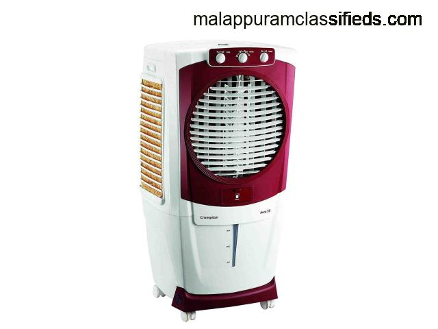 Crompton Aura Woodwool 55-Litre Desert Cooler (White-Maroon)