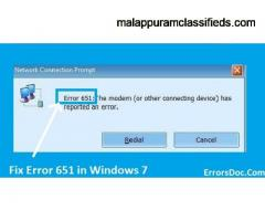How to Fix the Connection Failed Error 651 Windows 7?