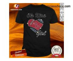 Hot Ole Miss Girl Heart Diamond Shirt