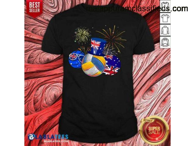 Hot Volleyball Australia Flag Happy Day Shirt